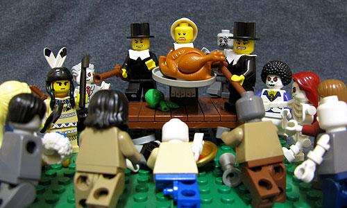 The first Thanksgiving, only with zombies.