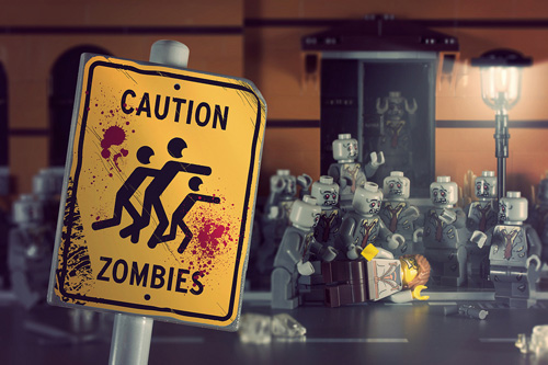 Watch out for LEGO zombies!