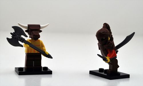 BrickWarriors accessories in action