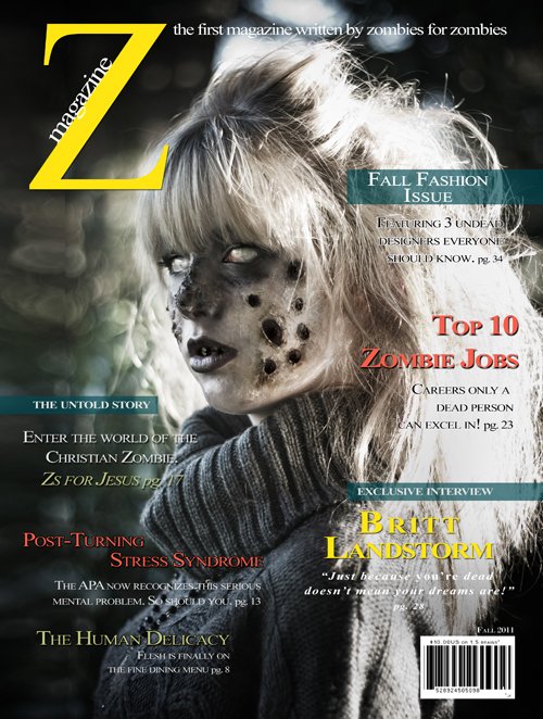 On the cover of ZMagazine