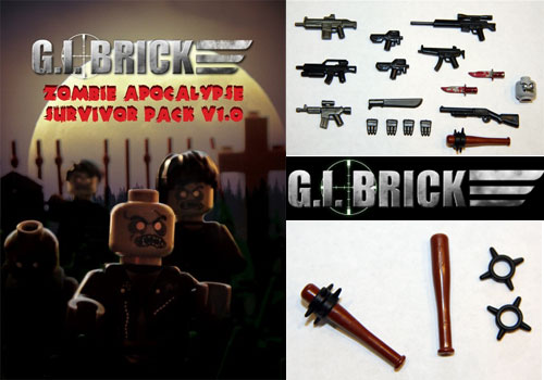 Zombie Apocalypse Survivor Pack from GI Brick