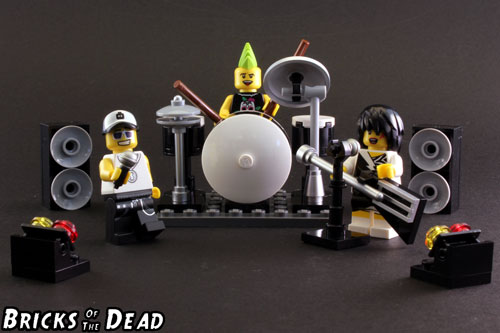 The finished LEGO Rock Band