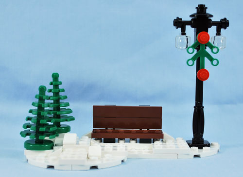 The snowy bench