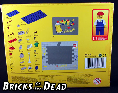 The back of the LEGO Classic Photo Frame box
