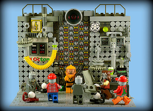 Bad Day at the Power Plant - A LEGO Zombie Creation