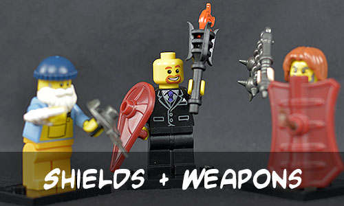 BrickWarriors Shields and Weapons