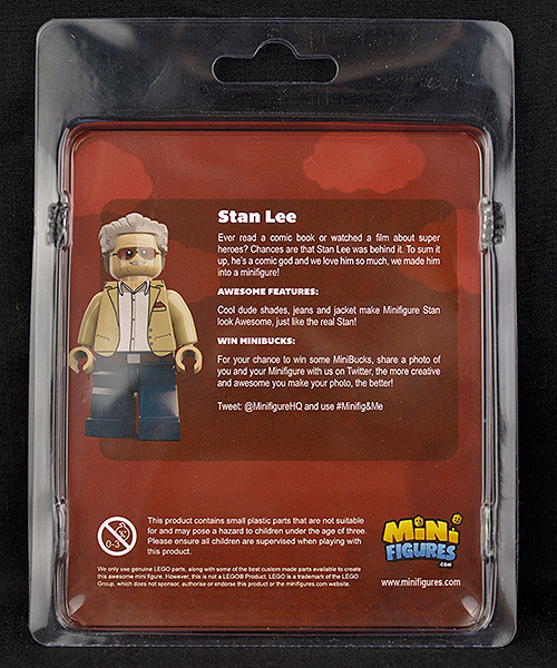 Minifigures.com Stan Lee in Box Back