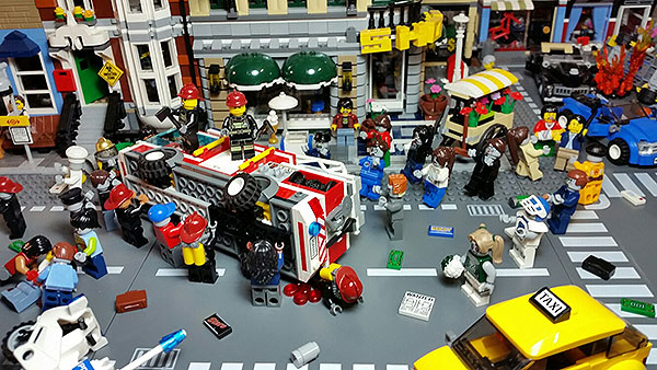 Zombie Apocalypse Hits Downtown LEGO City